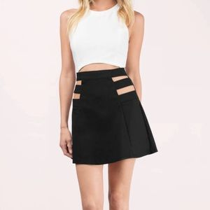 NWT black cut out high waisted mini skirt